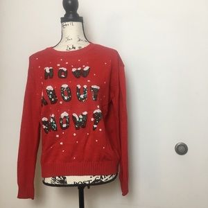 How About Snow Divided Sweater